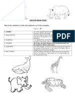 DID YOU KNOW THAT-quizz Eu Animale,Tabel