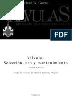Válvulas, selección, uso y mantenimiento