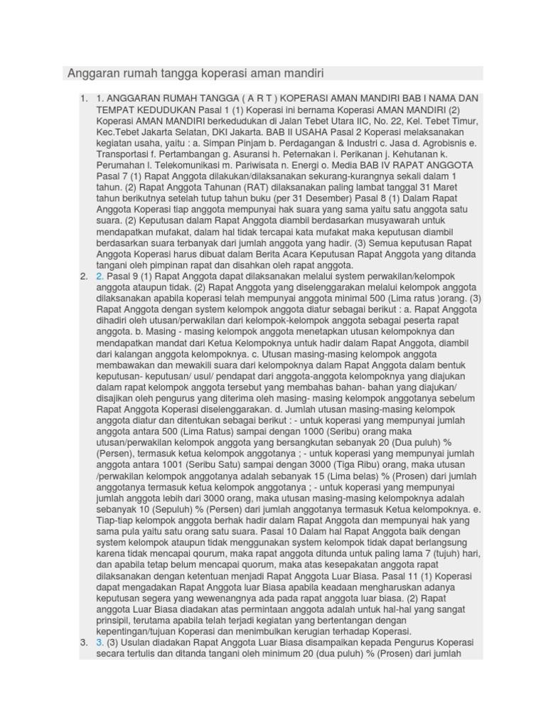 Anggaran Rumah Tangga Koperasi Aman Mandiri Smescotrade File Mgr Black Wanita 1532475602v1