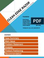 Group3 Ppt-Clean Edge Razor_mkt2