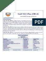 Gulf TEC Plus 10W-40 (06.2012)