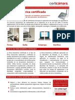 Folleto Firma Biometrica Certificada