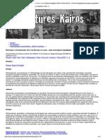 Estrutura e Inconsciente de Lévi-Strauss a Lacan_ uma articulação topológica (Revue Cultures-Kairós - revue d'anthropologie des pratiques corporelles et des arts vivants)