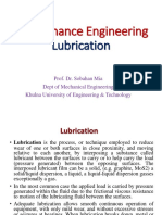 Maintenance Engineering - Lubrication