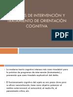 Técnicas de Intervención y Tratamiento de Orientación Cognitiva