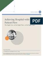 Achieving Hospital Flow