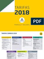Tarifas 2018 Peninsula y Baleares v2