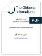 Gideons International Executive Director Opportunity Profile - 111417