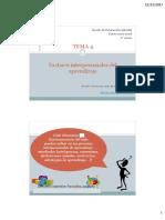 Tema 4 - Factores Interpersonales Del Aprendizaje(1)