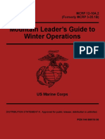 USMC Mountain Leader's Guide to Winter Operations