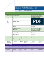 personalized student learning plan