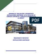 Presupuesto Facultad Ciencias Contables UNMSM