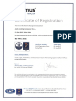 ISO 9001-2008- 2015 CERTIFICATE