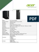 PC Bureau - Datasheet Veriton X4650