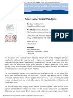 islamic education in britain  new pluralist paradigms - review - middle east media and book reviews