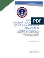 Aplicacion de Una Auditoria de Sistemas Computacionesles.