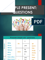Simple Present - Wh Questions Rules