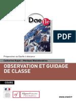 Observation Et Guidage de Classe