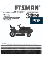 Craftsman Tractor 917252561 Manual