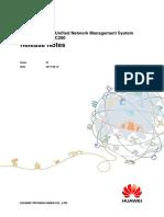 IManager U2000 V200R017C50SPC200 Release Notes 01