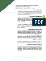 Mapeamento Dos Povos e Comunidades Tradicionais de Minas Gerais