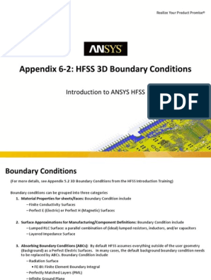 ANSYS_HFSS_L06_2_HFSS_3D_bc | Finite Element Method | Electrical
