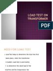 Load Test on Transformer
