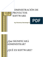 ADMINISTRACION DE PROYECTOS SOFTWARE I estudiantes