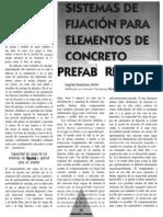 Sistemas de Fijacion Para Elementos de Concreto Prefabricado