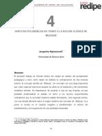 Rajmanovich, j. Disputas Polisemicas en Torno a La Nocion Clasica de Bildung