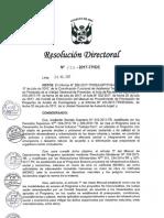 R.D. N° 137-2017 - MODIFICACION DE LINEAMIENTOS Y MANUAL DE MODALIDAD DE ACCION DE CONTINGENCIA