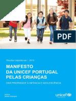 Manifesto Da UNICEF Portugal Pelas Criancas 2015