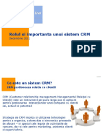 Rolul Si Importanta Unui Sistem CRM