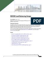 Docsis Load Balancing Groups