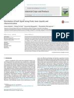 Dissolution of Kraft Lignin Using Protic Ionic Liquids And