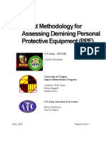 Methodology for Assesing Demining Personal Protective Equipment