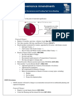 Transportation Governance Amendments Summary