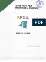 Les statuts révisés du PPRD, parti de Joseph Kabila