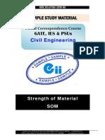 Gate Ies Postal Studymaterial for Strength of Material Civil