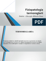 Fiziopatologia Termoreglarii