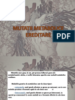 Mutatii metabolice ereditare