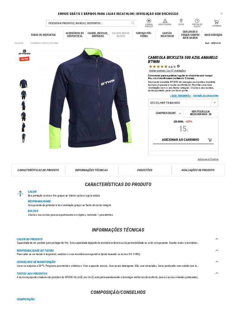 76417a673 Camisola Bicicleta 500 - à Venda Na Decathlon
