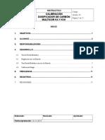 Instructivo Calibración Dosificador