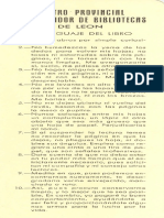 Primer marcapáginas de los Bibliobuses de León (1974)