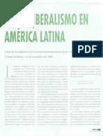 Neoliberalismo en America Latina