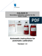 Instructions for Automatic Calibration - Eaton Internormen CALSUS 01 Secondary Calibration Solution for CCS2-CCS4_e, 1.4
