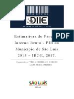 Nota Tecnica 2017-7 PIB2015 - PIB DO MUNICÍPIO DE SÃO LUÍS 2015