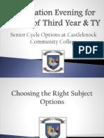 Senior Options Evening 24th January 2018