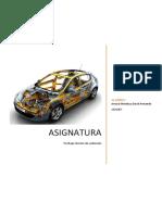 Pilar de la estructura de un automóvil