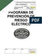 Programa de Prevención de Riesgo Eléctrico